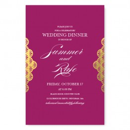 Casablanca Foil Rehearsal Dinner Invitations