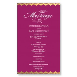 Casablanca Foil Wedding Program