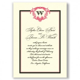 Charmed Initial Wedding Invitations