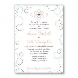 Chemistry 2-Layer Wedding Invitations