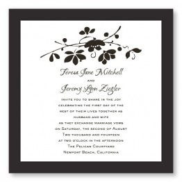 Cherry Blossom Branch Wedding Invitations
