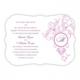 Circle Imprint II Wedding Invitations