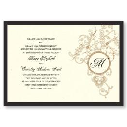 Circle Imprint Wedding Invitations