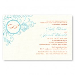 Circled With Love Thermography Wedding Invitations