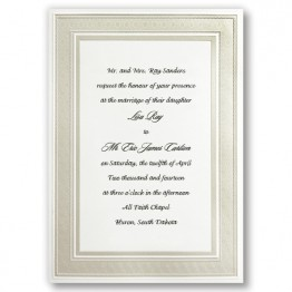 Classic Pearl Border Wedding Invitations - LIMITED STOCK AVAILABLE