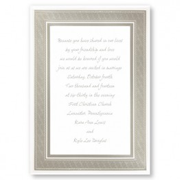 Classic Platinum Border Wedding Invitations