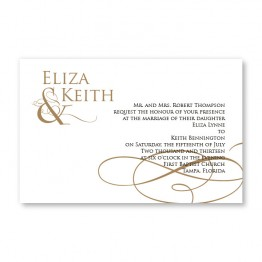 Classically Regal Letterpress Wedding Invitations