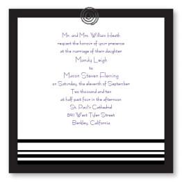 Clipped Classic Wedding Invitations