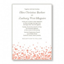 Confetti 2-Layer Wedding Invitations