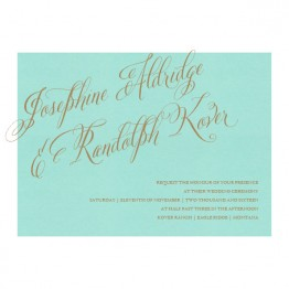 Cora Thermography Wedding Invitations