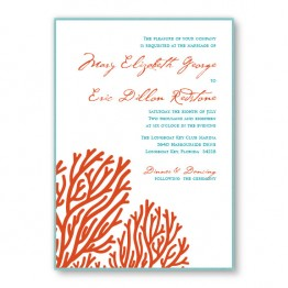 Coral 2-Layer Wedding Invitations