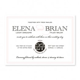 Cosmopolitan Wedding Invitations