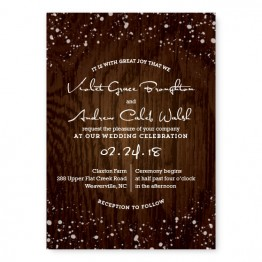 Cozy Cabin Wedding Invitations