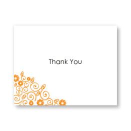 Flirty Flowers Letterpress Thank You Cards