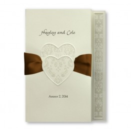 Damask Hearts Wedding Invitations