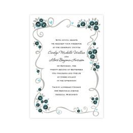 Dazzling Vine Wedding Invitations