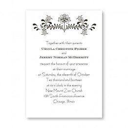 Delicate Touch Wedding Invitations