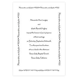 Designer Love Wedding Invitations