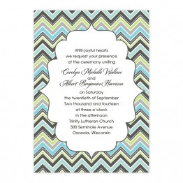 Distinctive Border Wedding Invitations