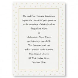 Dotted Elegance Wedding Invitations