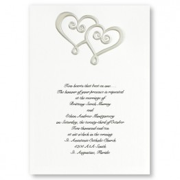 Double Hearts Wedding Invitations