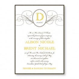 Elegance 2-Layer Wedding Invitations