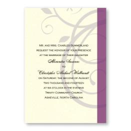 Elegant Swirl Wedding Invitations