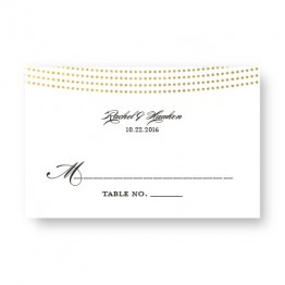 Ellington Foil Seating Cards