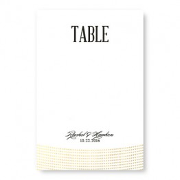 Ellington Foil Table Cards