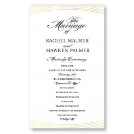 Ellington Foil Wedding Program