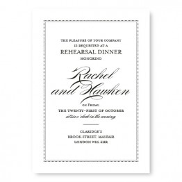 Ellington Rehearsal Dinner Invitations