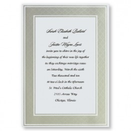 Etched Pearl Frame Wedding Invitations - LIMITED STOCK ON HAND