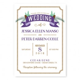 Evergreen Banner Wedding Invitations