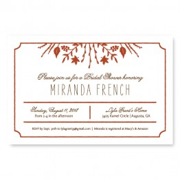 Fall Flora Bridal Shower Invitations