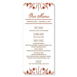 Fall Flora Menu Cards