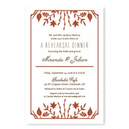 Fall Flora Rehearsal Dinner Invitations