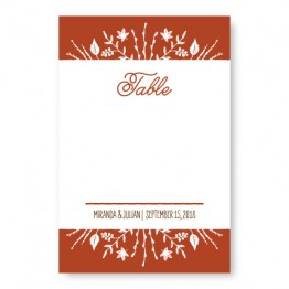 Fall Flora Table Cards