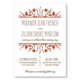 Fall Flora Wedding Invitations