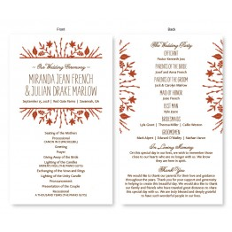 Fall Flora Wedding Program