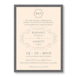 Fallon 2-Layer Thermography Wedding Invitations