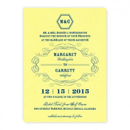 Fallon Thermography Wedding Invitations