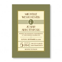 Fern Wedding Invitations - Real Foil Wedding Invitations!