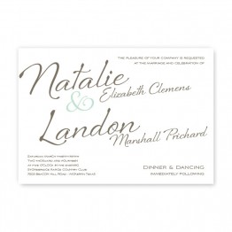 Flirt Wedding Invitations