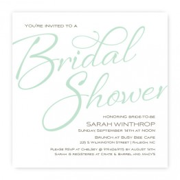 Flirt Bridal Shower Invitation