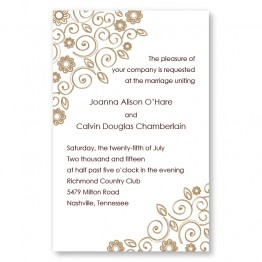 Flirty Flowers Letterpress Wedding Invitations