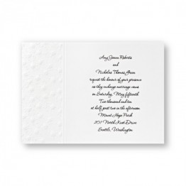 Floral Applique Wedding Invitations - LIMITED STOCK ON HAND