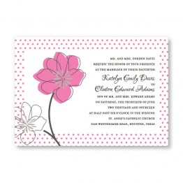 Floral Banner Wedding Invitations