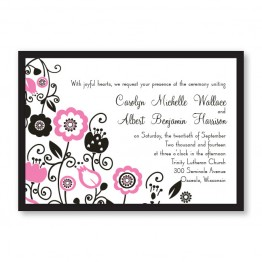 Floral Elegance Wedding Invitations