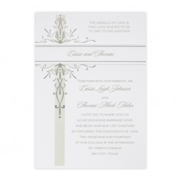 Floral Medallion Wedding Invitations