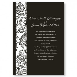 Floral Passion Wedding Invitations